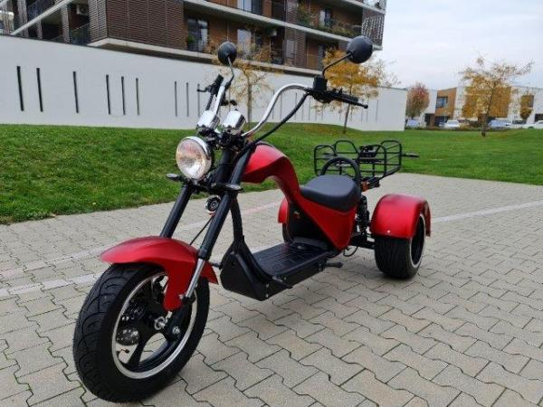 "Elektrický Chopper® Red 45km/h Cobra 4000W Model: ""ES8009"""