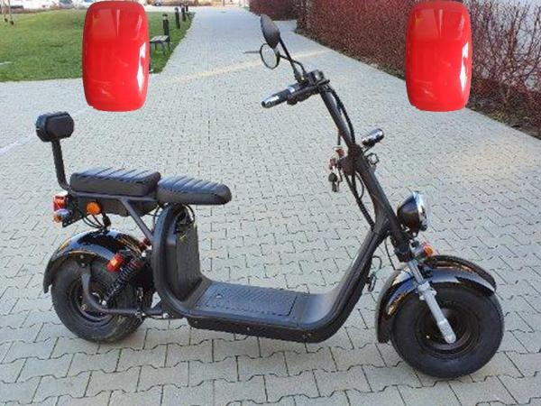 "Elektrický Chopper® Red 45km/h Model: ""CP-1"""